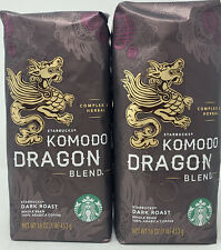 STARBUCKS KOMODO DRAGON Blend Whole Bean Coffee 2 lbs Dark Roast BBD 7/22/20