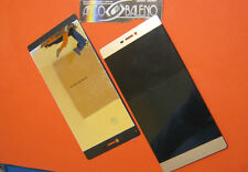 "DISPLAY LCD+ TOUCH SCREEN per HUAWEI ASCEND P8 5,2"" VETRO GOLD ORO GRA-L09 4G"