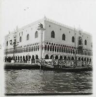 Venezia Palais Dei Doge Italia Foto Stereo Th2n2 Placca Da Lente Vintage