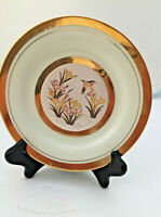 Japan Chokin Plate Gilded Gold and Silver 6.5 in Asian