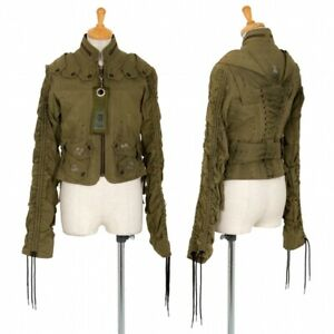 Ernte Studs Lace-up Riders Jacket Size 1(K-95449)