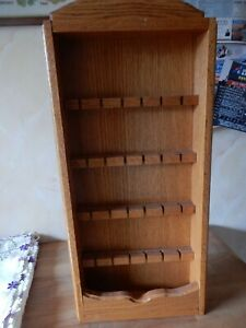 64cm tall x 30cm wide display rack, Tropical Hardwood, made in Indonesia stamp t