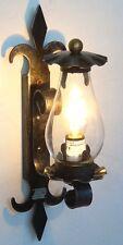 Lampada da parete applique in ferro battuto con vetro Trento piccola 1 luce