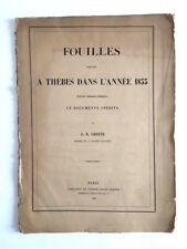 Fouilles exécutées à Thèbes dans l'année 1855 / J. B. Green /  EO / egyptologie