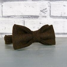 Boys Tweed Bow Tie - Brown Twill
