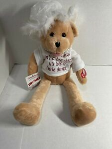 """Chantilly Lane Musicals Teddy Bear Pearls Sings That's What Friends Are For 22"""""""