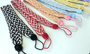 Pair Handmade Wide Silky Braided Twisted Rope Curtain Tie backs Holdbacks