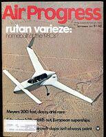 Air Progress Magazine September 1975 Rutan Varieze EX w/ML 120316jhe