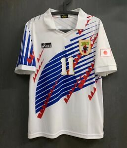VINTAGE JAPAN NATIONAL TEAM RETRO 93-95 AWAY WHITE SHIRT JERSEY KAZU
