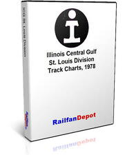 Illinois Central Gulf St. Louis Division track chart - PDF on CD - RailfanDepot