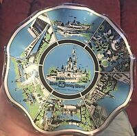 Vintage Walt Disney World Magic Kingdom Fluted Ashtray/Candy Dish 1970s