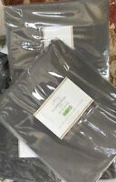 Pottery Barn Set 2 Broadway Drape Flagstone Gray 96L Pole Pocket Curtain Pair