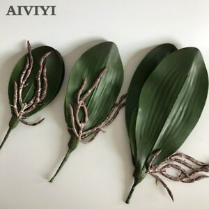 Artificial flower Orchid leaveshigh arrangements potted DIY leaves texture