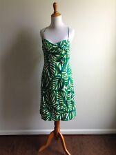 Donna Morgan Green Tropical Leaf Dress Size 14 Large