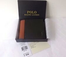 POLO RALPH LAUREN Bi-fold Wallet Men's  Black 2-Tone Leather Pass-case