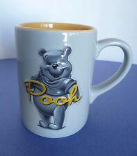 "Disney Store Large Gray Yellow Winnie The Pooh Mug. Approx 5 1/4"" Tall"
