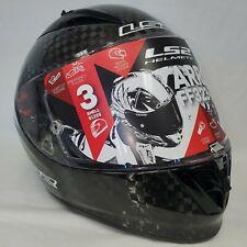 LS2 Arrow Carbon Gen-1 Full Face Street Motorcycle Helmet Gloss Black XLarge NEW