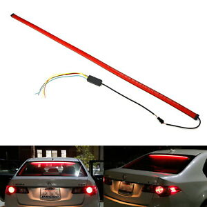 "36"" Flexible Rear Windshield 3rd Brake LED Light Strip w/Sequential Turn Signal"