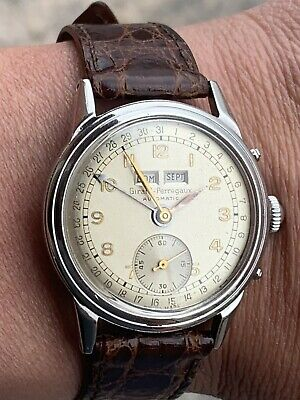 GIRARD PERREGAUX AUTOMATIC 6083 cal GP 44 BF bumper vintage 1940/49 STEEL Watch