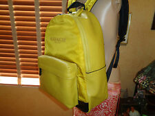 NWT COACH Men's Campus Leather/Nylon BACKPACK Chartreuse YELLOW  71975  $395