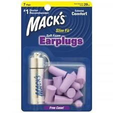 MACKS Slim Fit Soft Foam Earplugs With Casing - 7 pairs (PURPLE)