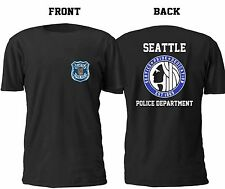 NEW SEATTLE POLICE DEPARTMENT T SHIRT SIZE S-4XL