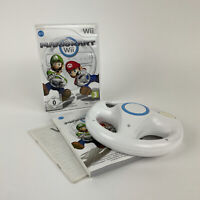 Mario Kart Wii Official Racing Game & X1 Wheel - 100% Complete Gaming Setup VGC