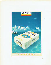 Publicité Advertising 097  1983  cigarette Royale n ultra légère