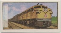 Canadian National Railways Diesel Train Engine  Vintage Ad Trade Card