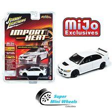 Johnny Lightning Import Heat 2004 Mitsubishi Lancer Evolution (White) 1:64