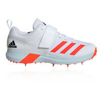 adidas Mens Vector Cricket Spikes - White Sports Lightweight