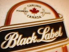 Vintage Carling Canada Black Label Canadian Style Beer Cardboard Sign Bar Pub