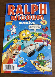 "Ralph Wiggum #1 ""Print is Dead"" Bongo Comics Newsstand Variant The Simpsons"