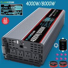 4000W/8000W inversor onda senoidal pura 24V CC a CA 120V Convertidor de Alimentación de coche