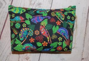 Fair Trade Chameleon Wash Bag Make Up Bag Hippy Boho Hand Made From Marrakesh