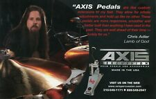 2006 small Print Ad of Axis Bass Drum Pedal w Chris Adler Lamb Of God