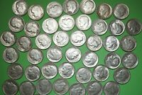 Lot of 15 ROOSEVELT DIMES 90% Silver Coins RANDOM Dates Shipping Discount #RDr15