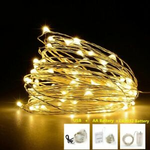 Christmas Copper Wire 5V LED String lights Holiday lighting Fairy Garland 1M-10M