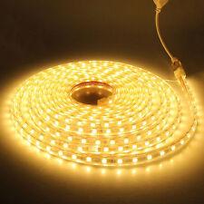 SMD3014 LUZ CINTA TIRA FLEXIBLE LED AC220V 60 LED/M IMPERMEABLE - CALIDO
