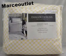 Charter Club Damask Designs 500 Thread Count QUEEN Sheet Set Butter Dot