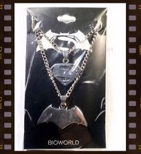 Batman vs Superman Dawn of Justice Friendship Necklace loot Wear crate collane