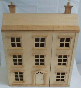 Bespoke Pine & MDF 2 Story Doll's House 55x69x20cm WC