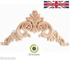 12,5 x 12,5 cm squisito classico legno intagliato angolo applique arredo naturale