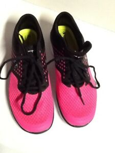 Chamption 9.5 Pink/ Black Sneakers Memory Foam Insoles All Man Made Material.k23