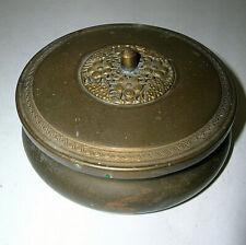 Antique Dutch Hags Bronze Shrine w/ Lid Vanity Compact Trinket Box Bronce HAGS