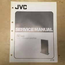 Original JVC Service Manual for the FS-100 Flat Speaker System ~ Manual!