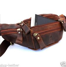Genuine oiled full Leather wallet Bag Waist Pouch backpack cell phone Purse Drop