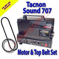 TACNON SOUND 707 8mm Cine Projector Belt Set of 2 (Main Motor & Upper Pulleys)