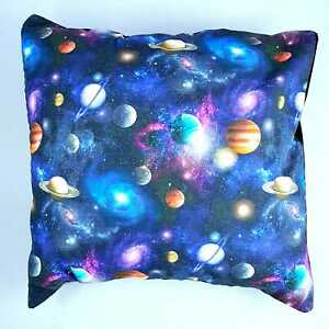 "Galaxy Planets Milky Way Space Cushion Cover Decorative Case fits 18"" x 18"""