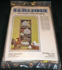 Vintage Fablique Pot Holder Wall Hanging Craft Stitchery Kit HENS 747 Chicken